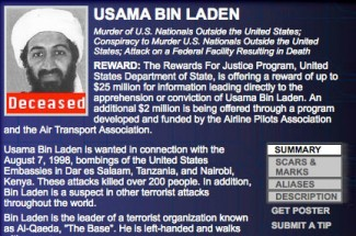 FBI 10 Most Wanted - Osama Bin Laden