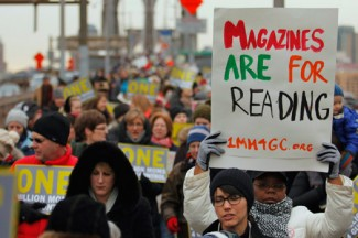 People participate in an anti-gun violence rally in New York. (CNS photo/Eduardo Munoz, Reuters)