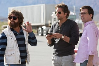 """Zach Galifianakis, Bradley Cooper and Ed Helms in a scene from the movie """"The Hangover Part III."""" CNS photo/Warner Bros.)"""