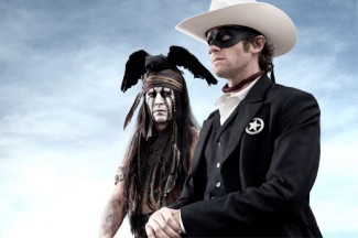 """Johnny Depp and Armie Hammer star in a scene from the movie """"The Lone Ranger."""" (CNS photo/Disney)"""