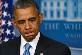 President Barack Obama talks about the Trayvon Martin case at the White House. (CNS photo/Larry Downing, Reuters)