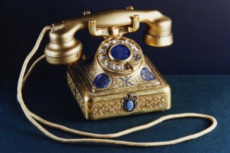The first papal phone, donated to Pope Pius XI by Catholics in the United States, was used for decades until the end of Pope John XXIII's pontificate. (CNS photo)