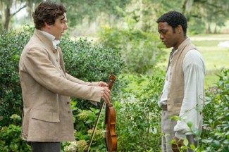 "Benedict Cumberbatch and Chiwetel Ejiofor star in ""12 Years a Slave."""