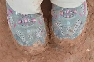 Rebecca's Camino shoes.
