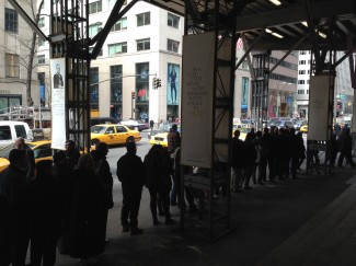 People wait in line for ashes at St. Patrick's Cathedral - NYC