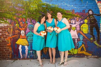 Friends (left to right) Darlene, Kim, and Emily in a photo from my wedding. (Photo credit: Nylagray Photography)