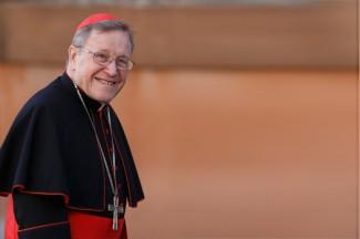 German Cardinal Walter Kasper arrives for meeting of cardinals at Vatican. (CNS photo/Paul Haring)