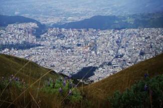 A view of Quito, Ecuador. Courtesy of Emily Gordon.