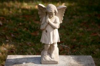 A memorial to unborn children outside a Catholic church in Alexandria, Virginia. (CNS photo/Nancy Phelan Wiechec)