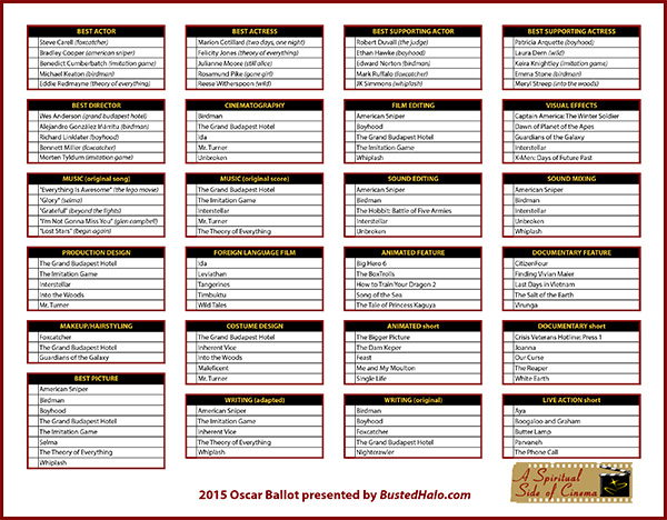 Click the image above to view all of the nominated films and to download a 2015 Oscar ballot.