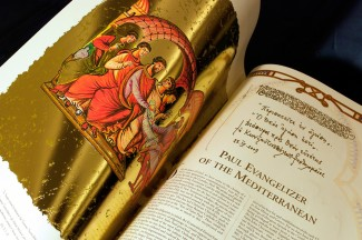 View of Pages From 'Codex Pauli'(Catholic News Service photo/courtesy of Benedictine Abbey of St. Paul Outside the Walls)