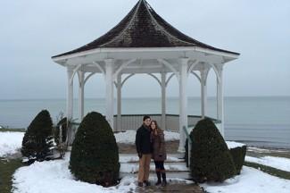 Lynn and her husband Matt enjoying a Buffalo winter