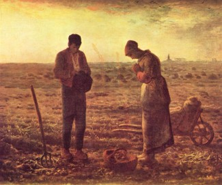 """The Angelus"" by Jean-Francois Millet"