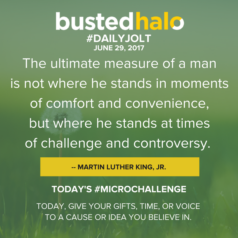 The ultimate measure of a man is not where he stands in moments of comfort and convenience, but where he stands at times of challenge and controversy. -- Martin Luther King, Jr.