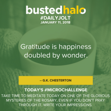 Gratitude is happiness doubled by wonder. -- G.K. Chesterton