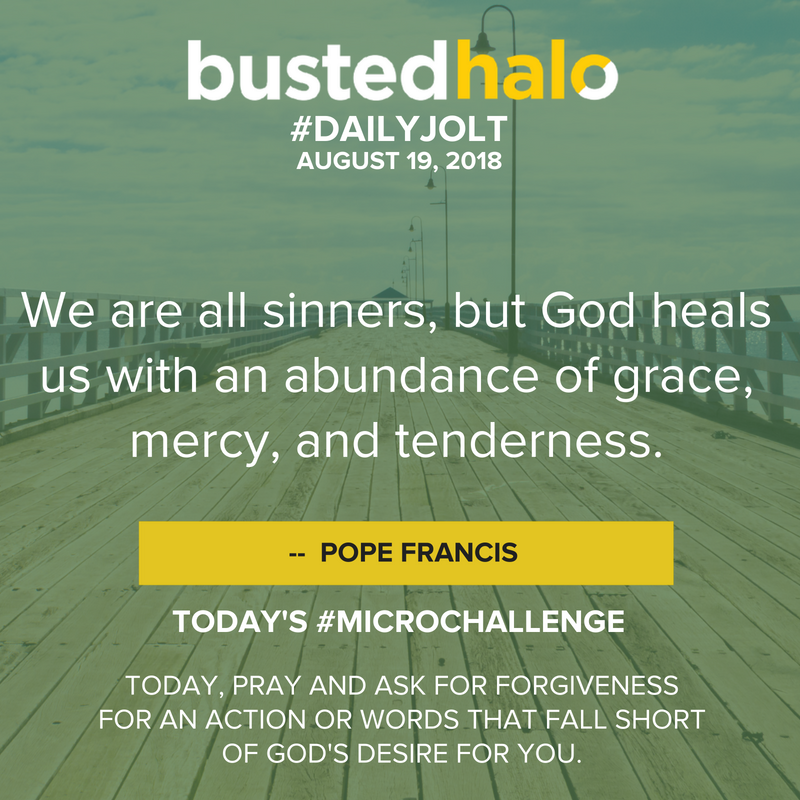 We are all sinners, but God heals us with an abundance of grace, mercy, and tenderness. -- Pope Francis