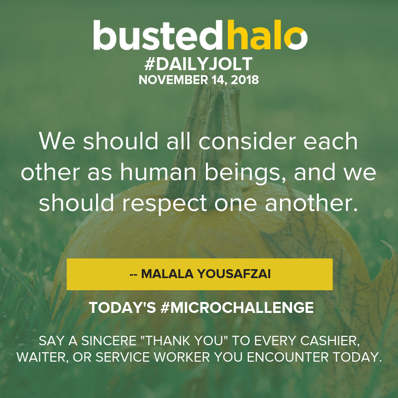 """We should all consider each other as human beings, and we should respect one another. -- Malala Yousafzai"