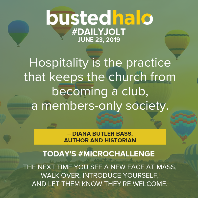 Hospitality is the practice that keeps the church from becoming a club, a members-only society. -- Diana Butler Bass, author and historian