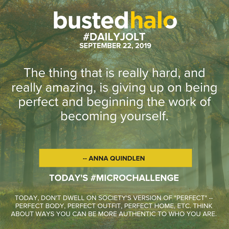 The thing that is really hard, and really amazing, is giving up on being perfect and beginning the work of becoming yourself -- Anna Quindlen