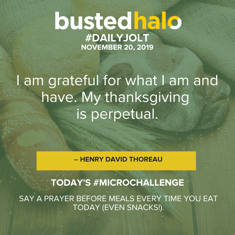 I am grateful for what I am and have. My thanksgiving is perpetual. -- Henry David Thoreau