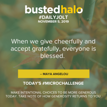 When we give cheerfully and accept gratefully, everyone is blessed. -- Maya Angelou