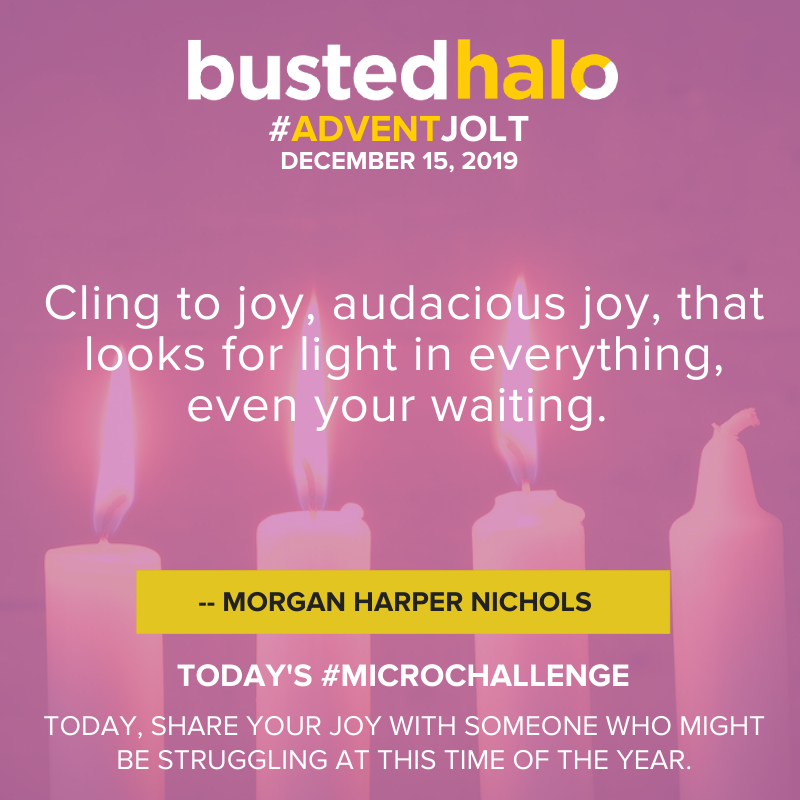 Cling to joy, audacious joy, that looks for light in everything, even your waiting. -- Morgan Harper Nichols
