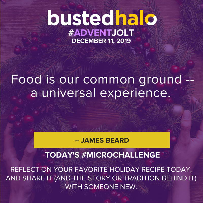 """Food is our common ground -- a universal experience."" -- James Beard"