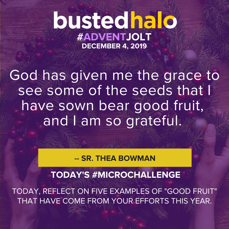 """God has given me the grace to see some of the seeds that I have sown bear good fruit, and I am so grateful."" - Sr. Thea Bowman"