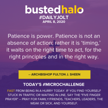 Patience is power. Patience is not an absence of action; rather it is 'timing,' it waits on the right time to act, for the right principles and in the right way. -- Archbishop Fulton J. Sheen