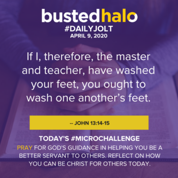 If I, therefore, the master and teacher, have washed your feet, you ought to wash one another's feet. -- John 13:14-15