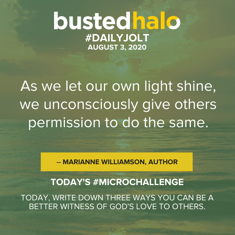 As we let our own light shine, we unconsciously give others permission to do the same. -- Marianne Williamson, author