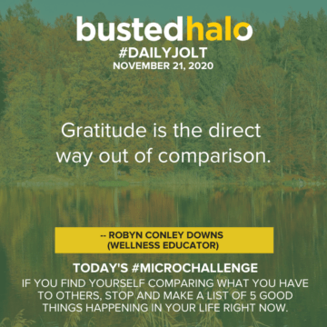 Gratitude is the direct way out of comparison -- Robyn Conley Downs (Wellness educator)