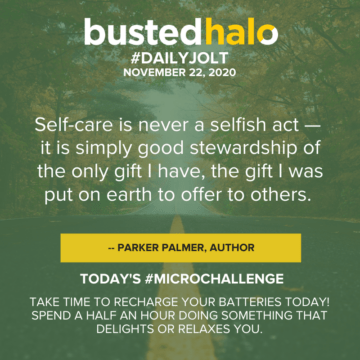 Self-care is never a selfish act — it is simply good stewardship of the only gift I have, the gift I was put on earth to offer to others. -- Parker Palmer, author